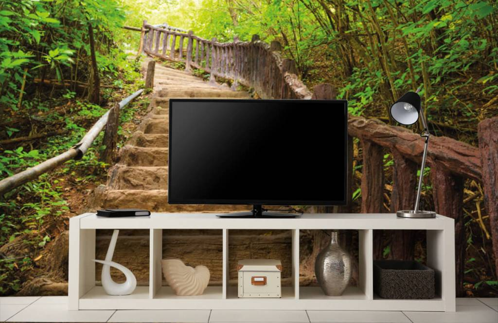 Forest wallpaper - Stairs in a forest - Bedroom 4