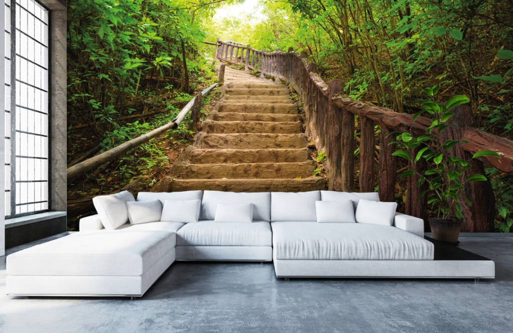 Forest wallpaper - Stairs in a forest - Bedroom 5