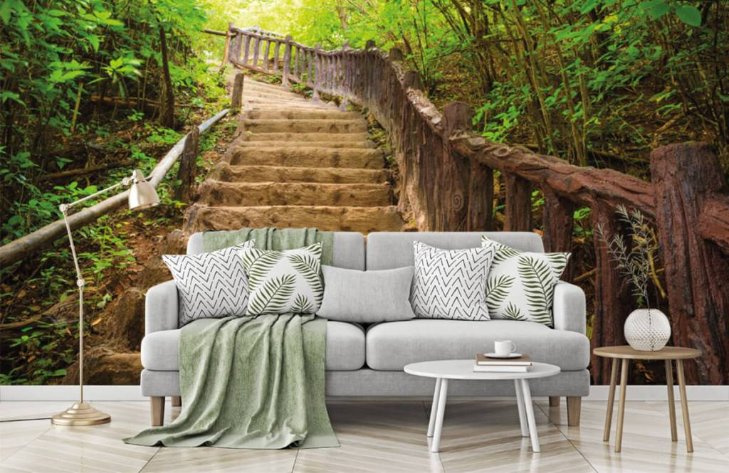 Forest wallpaper - Stairs in a forest - Bedroom 7