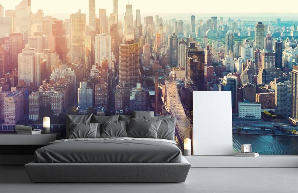Retro wallpaper - New York City - Teenage room 3