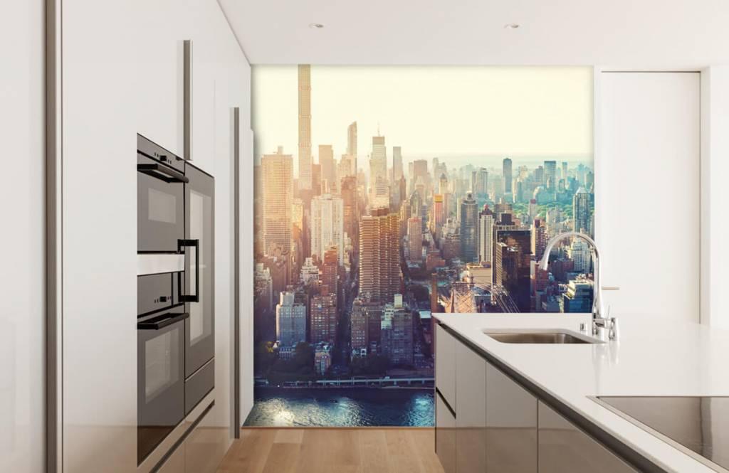 Retro wallpaper - New York City - Teenage room 4
