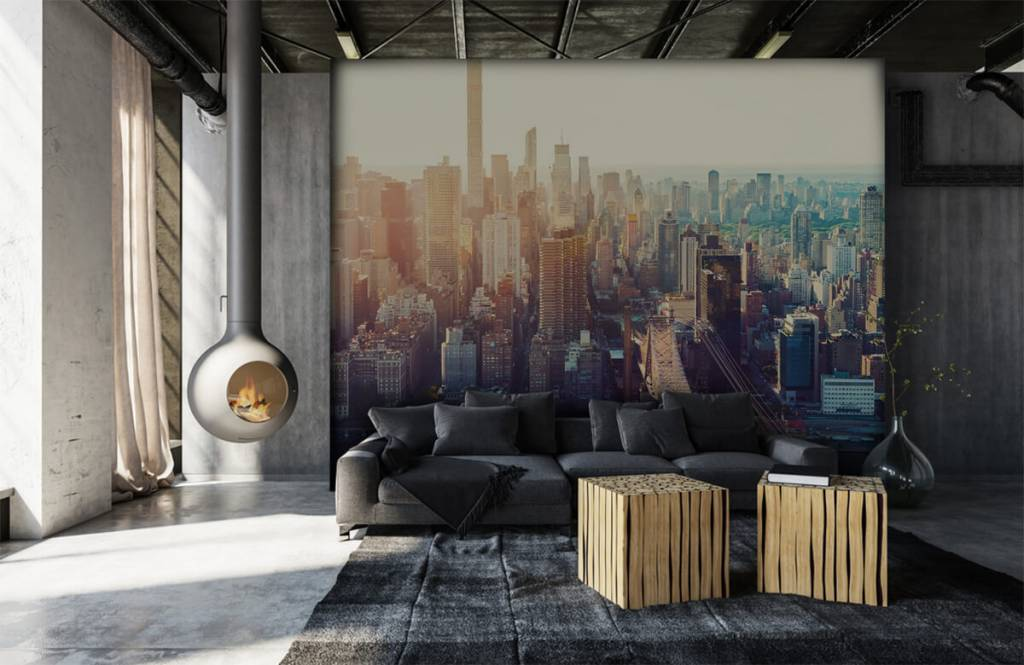 Retro wallpaper - New York City - Teenage room 6