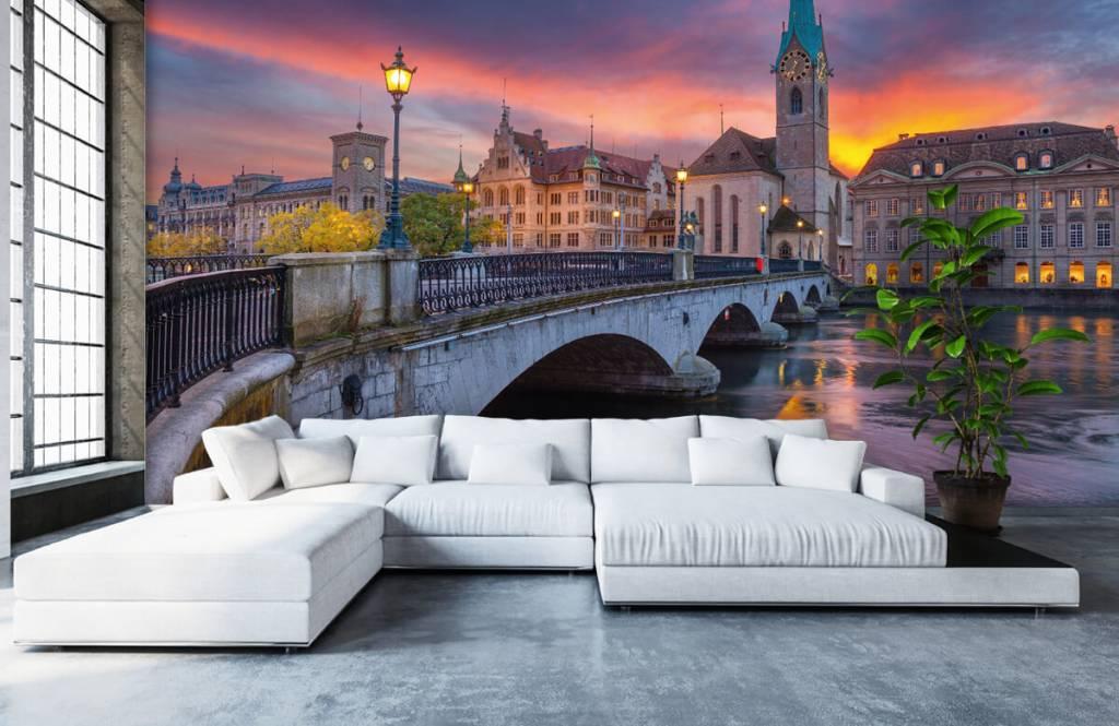 Cities wallpaper - Zurich in the evening - Bedroom 1