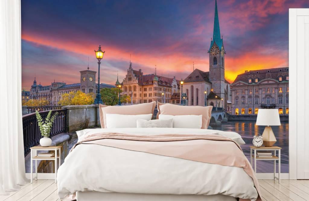 Cities wallpaper - Zurich in the evening - Bedroom 2