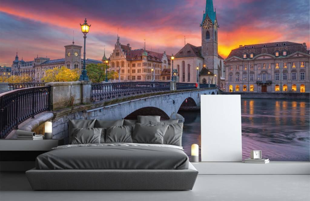 Cities wallpaper - Zurich in the evening - Bedroom 3