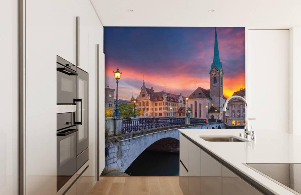Cities wallpaper - Zurich in the evening - Bedroom 4
