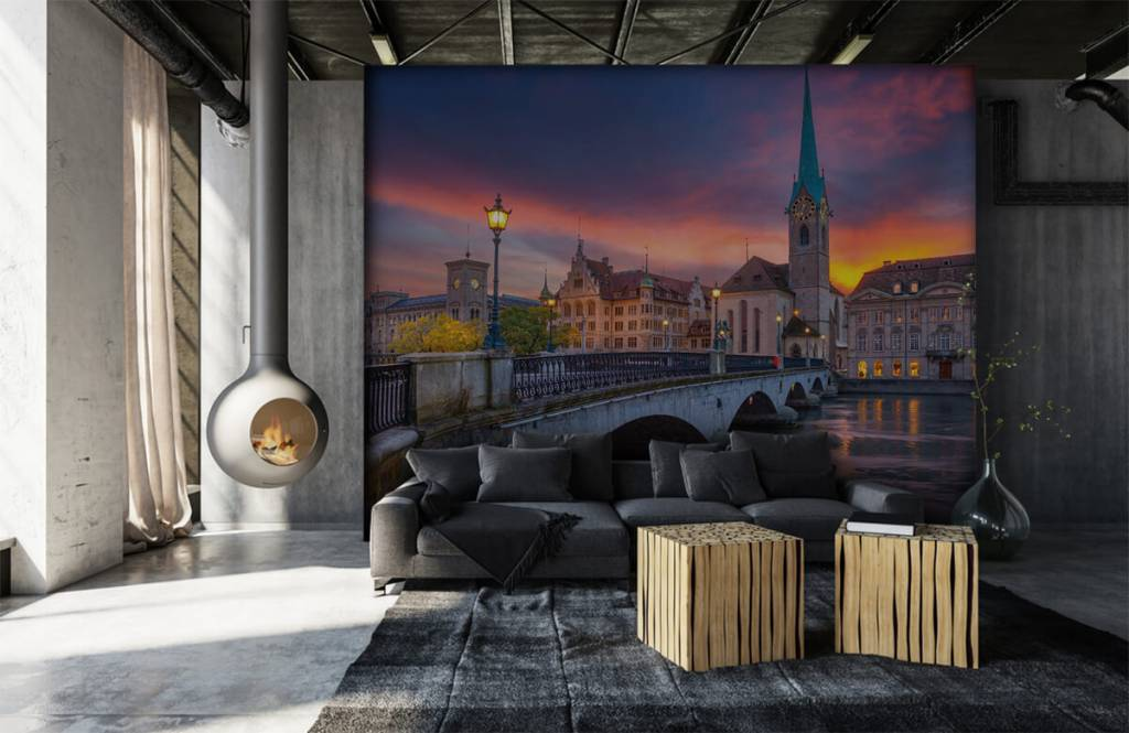 Cities wallpaper - Zurich in the evening - Bedroom 6