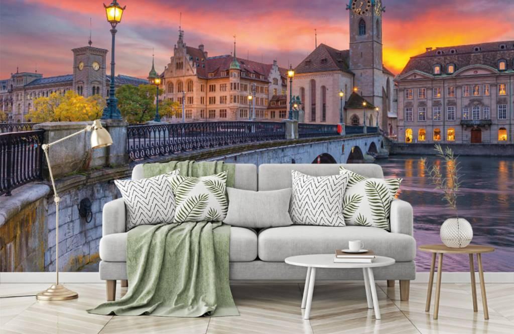 Cities wallpaper - Zurich in the evening - Bedroom 7