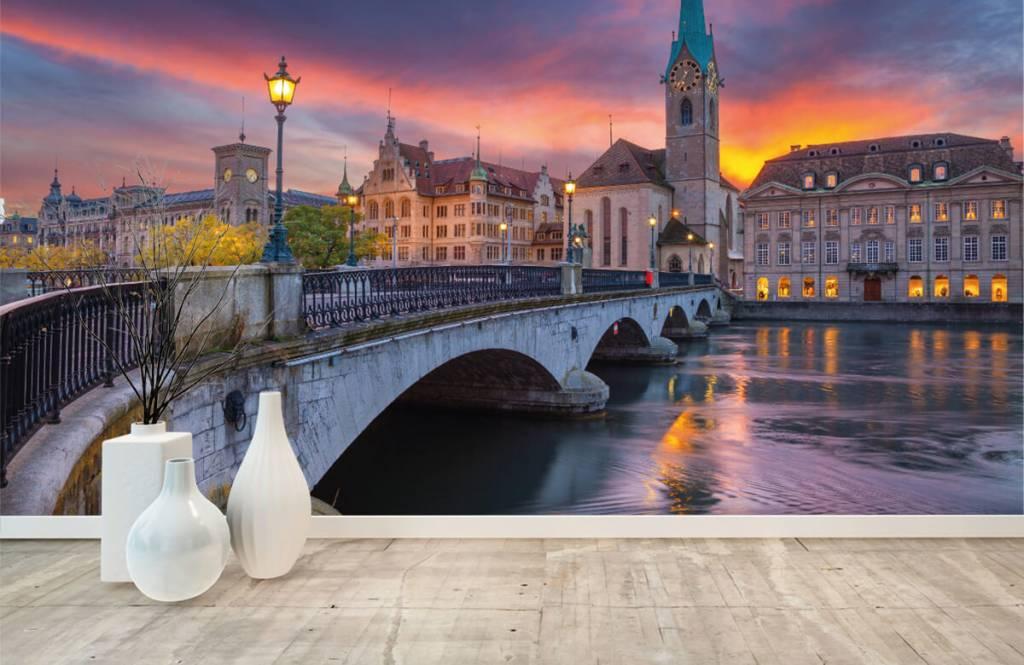 Cities wallpaper - Zurich in the evening - Bedroom 8