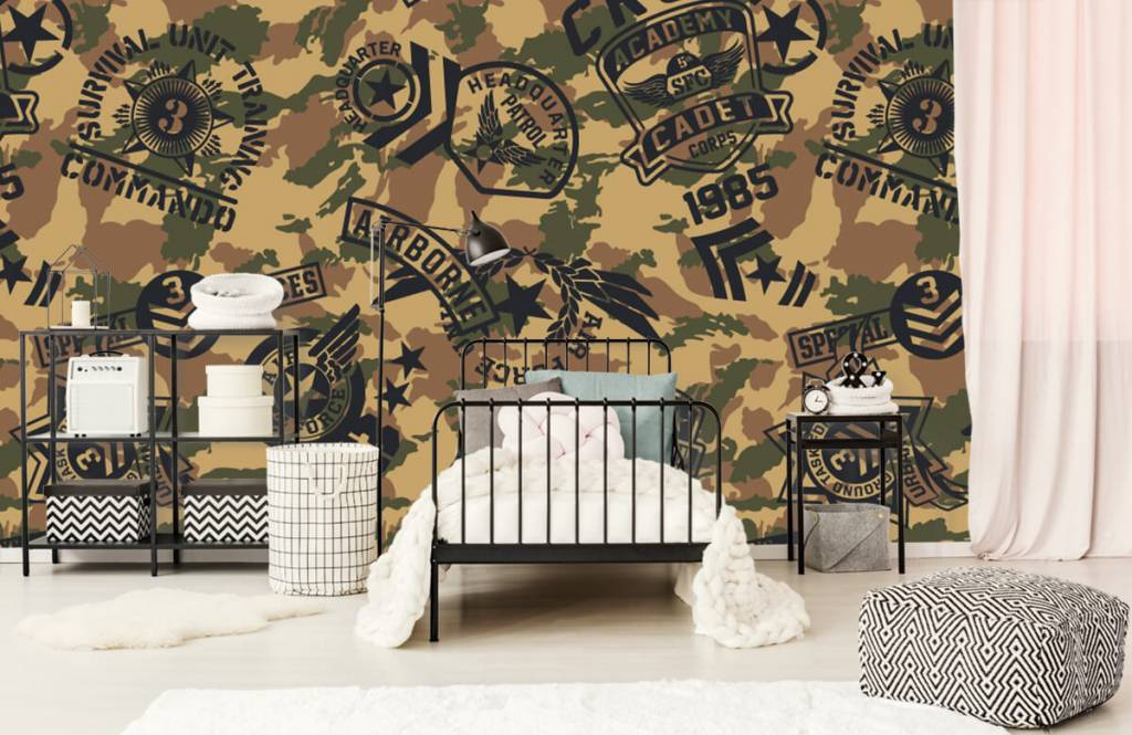 Other - Camouflage with logos - Children's room 1