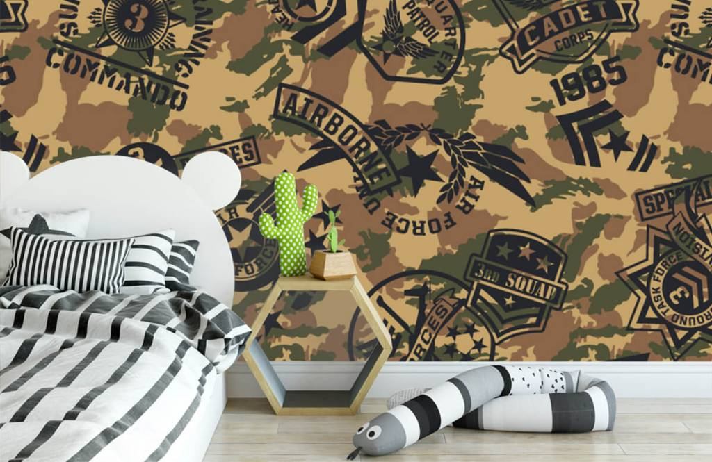 Other - Camouflage with logos - Children's room 2