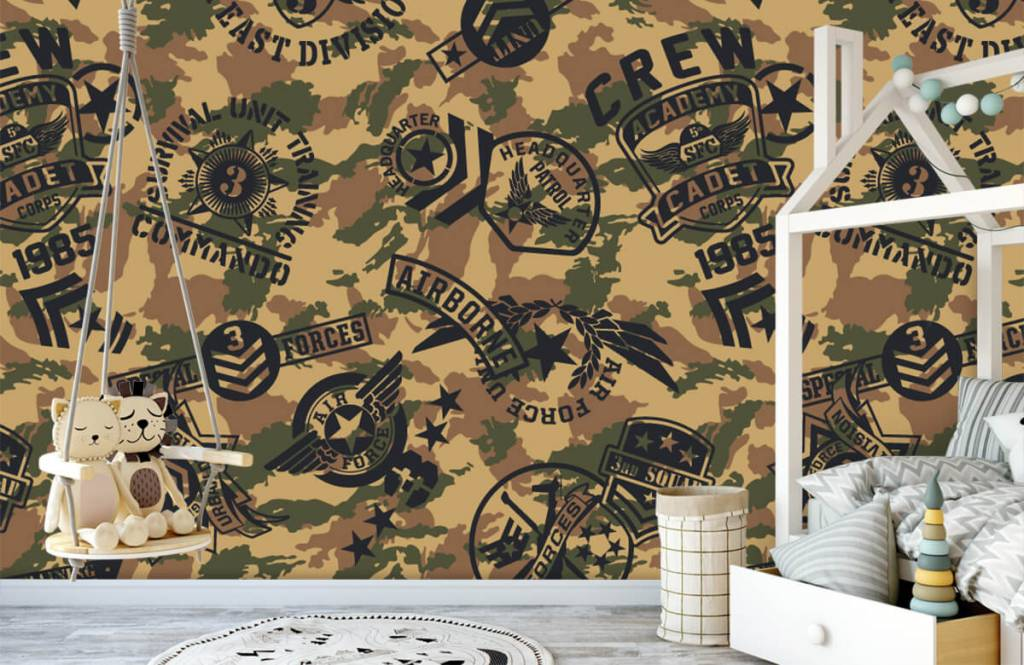 Other - Camouflage with logos - Children's room 3