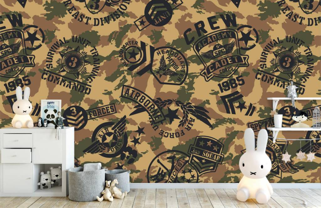 Other - Camouflage with logos - Children's room 4