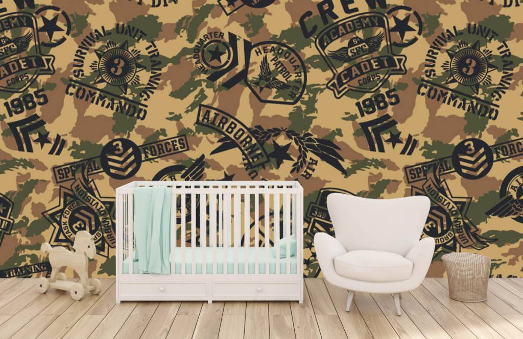 Other - Camouflage with logos - Children's room 5