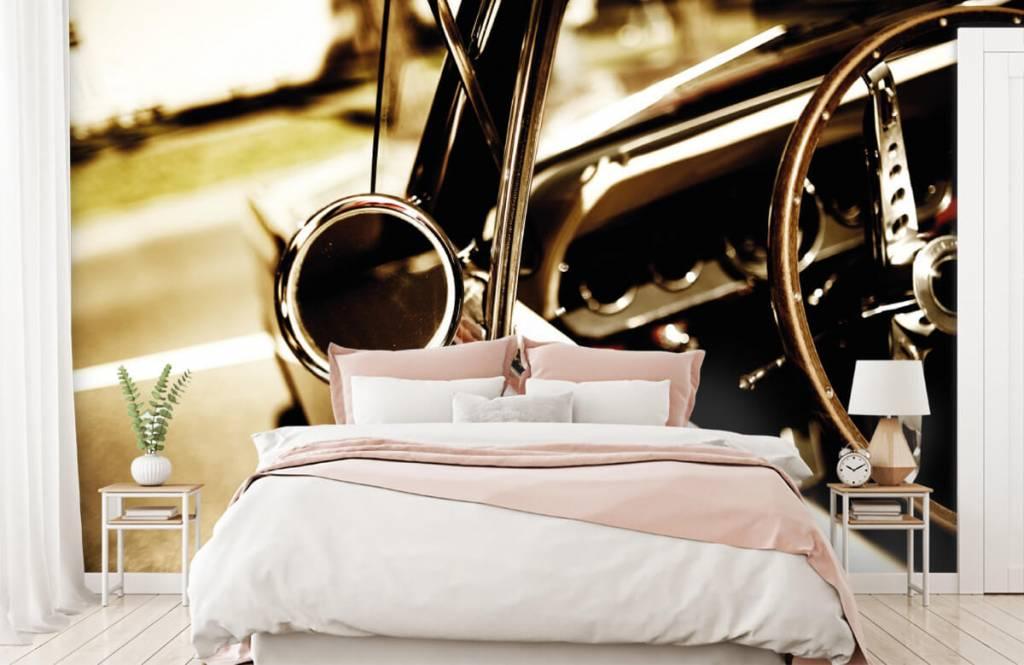 Transportation - Closeup red classic car - Bedroom 2