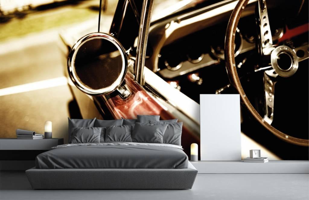 Transportation - Closeup red classic car - Bedroom 3