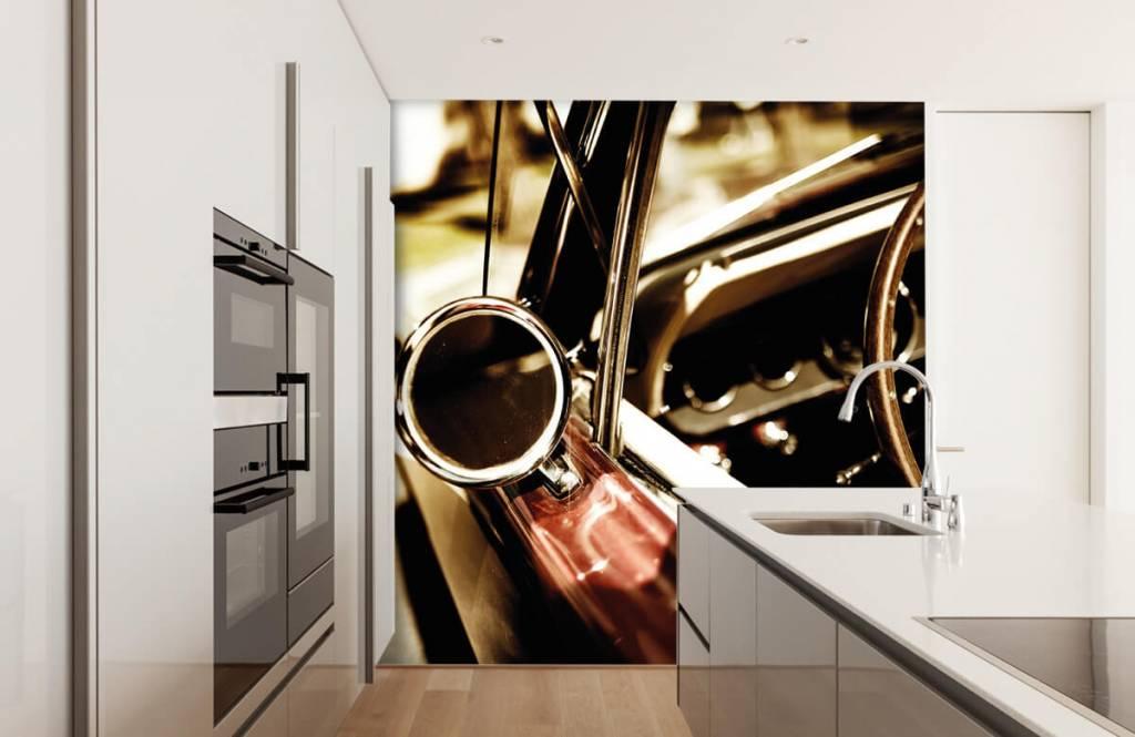 Transportation - Closeup red classic car - Bedroom 4