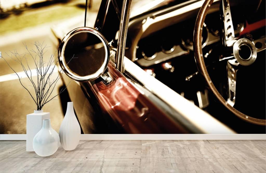 Transportation - Closeup red classic car - Bedroom 8
