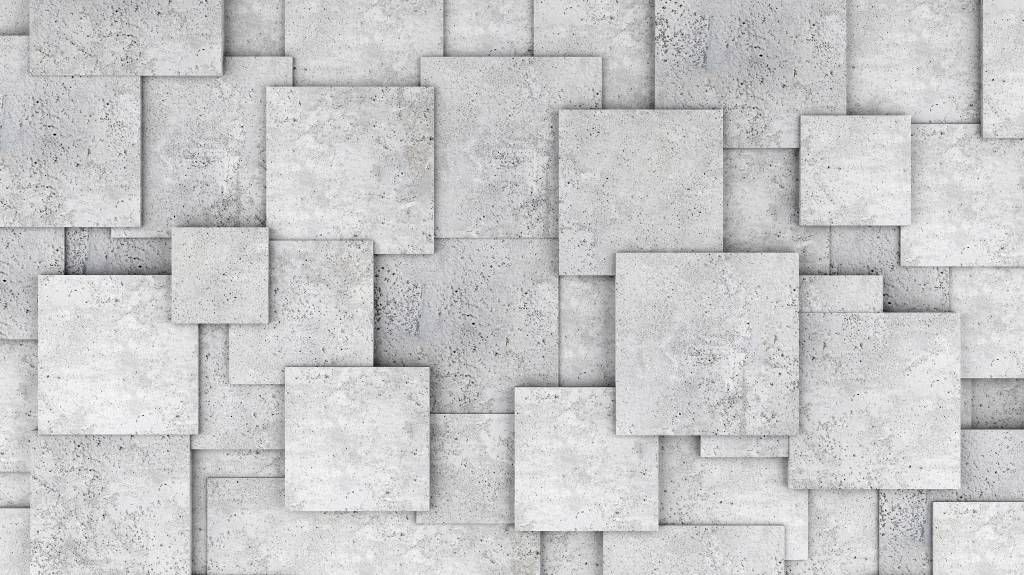 Other Textures & Surfaces - Square tiles in 3D - Bedroom