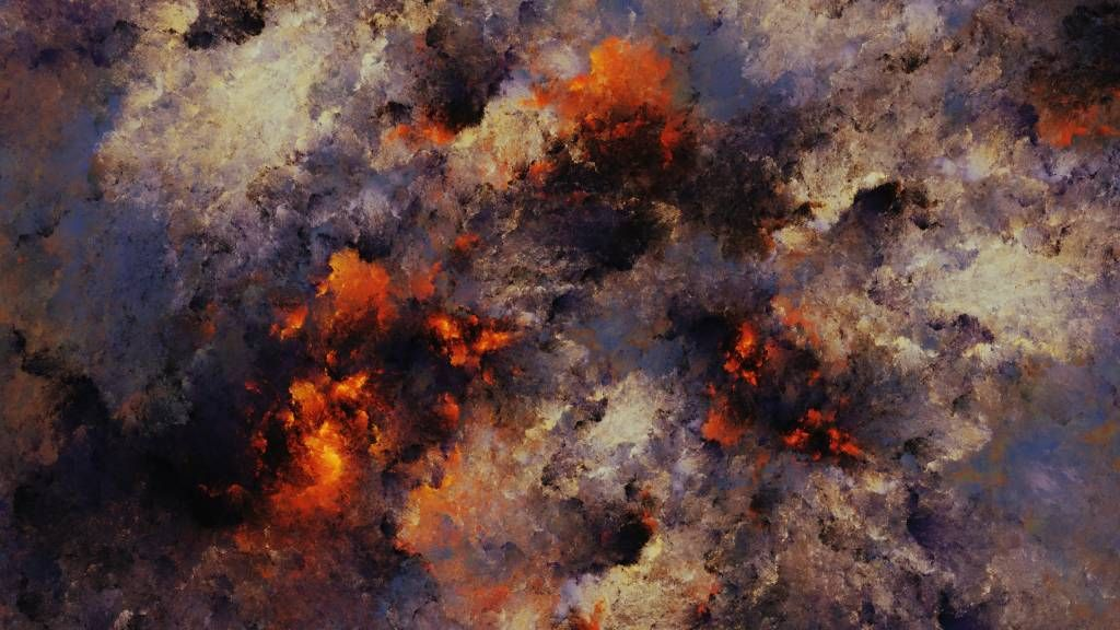 Abstract - Dark abstract clouds of smoke - Warehouse