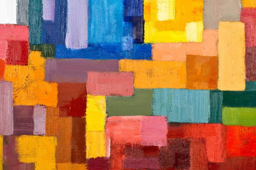 Abstract - Colorful surface distribution - Living room