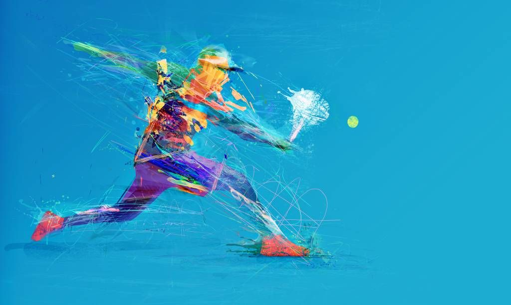 Other - Illustrated tennis player - Hobby room