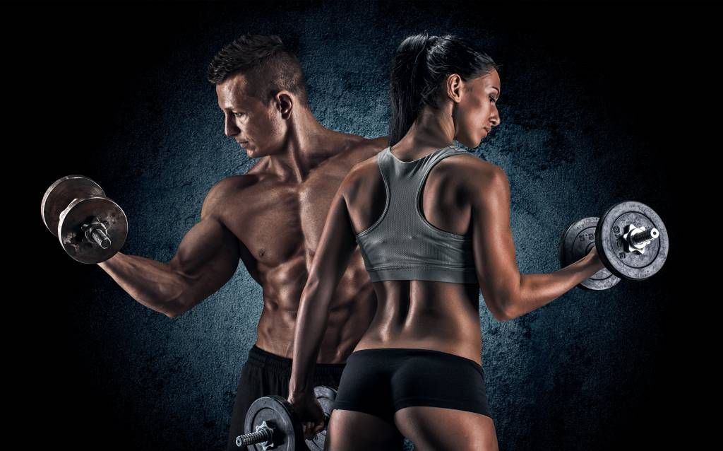 Fitness - Muscular people - Hobby room