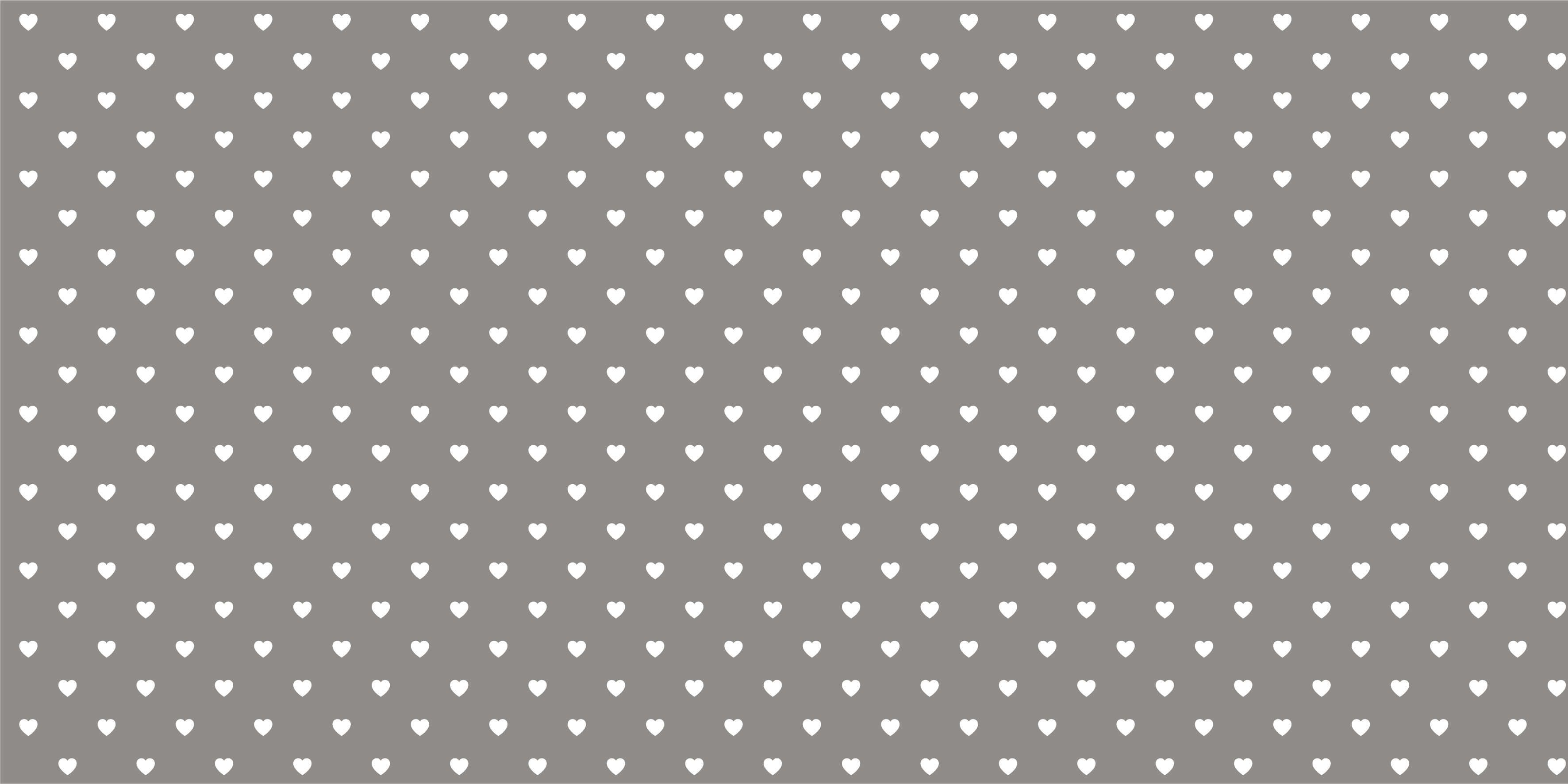 Baby wallpaper - Small white hearts - Baby room