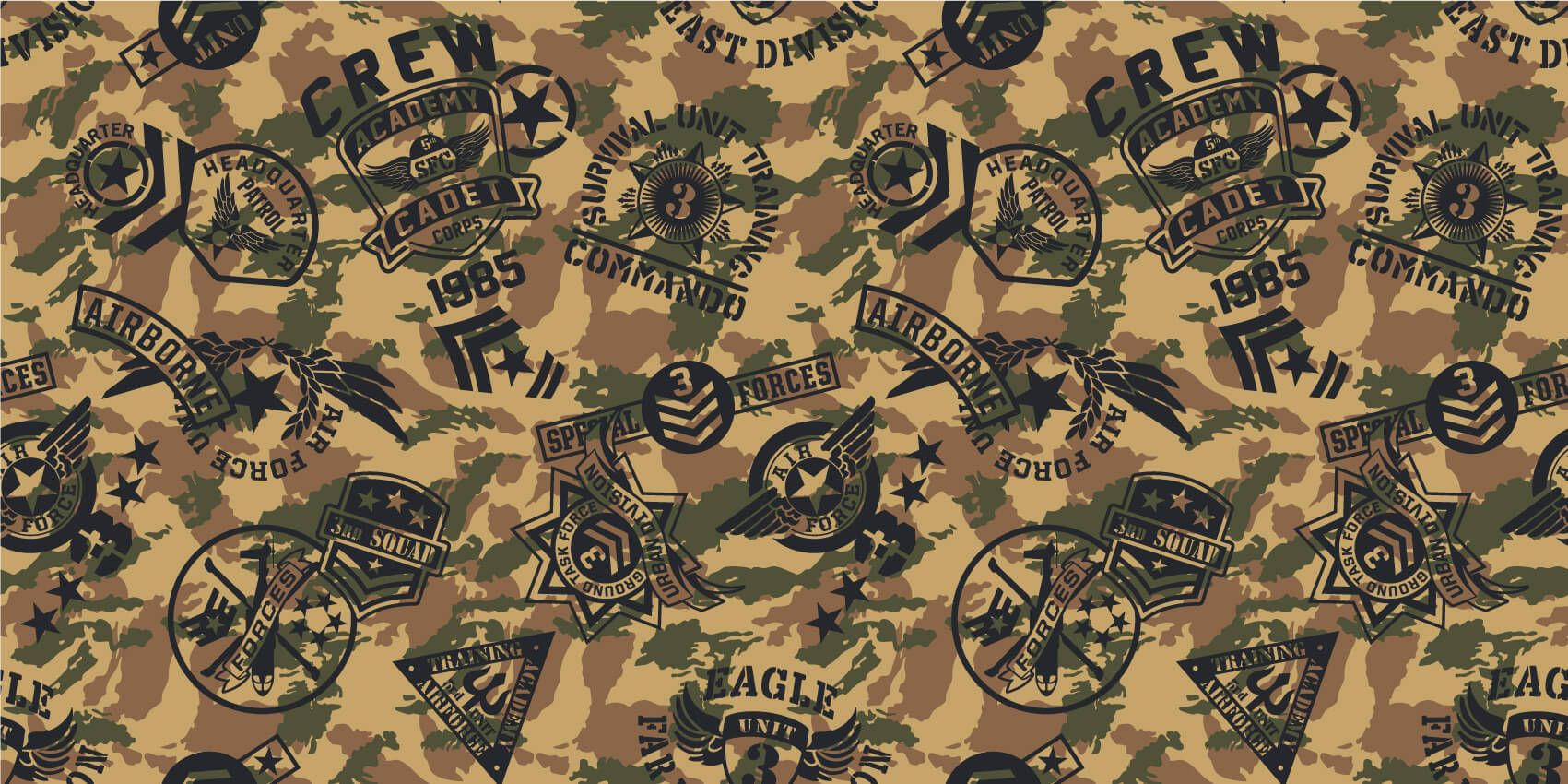 Other - Camouflage with logos - Children's room