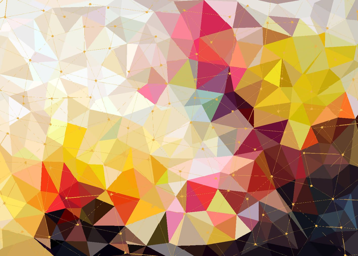 Other - Print of colorful triangles - Bedroom