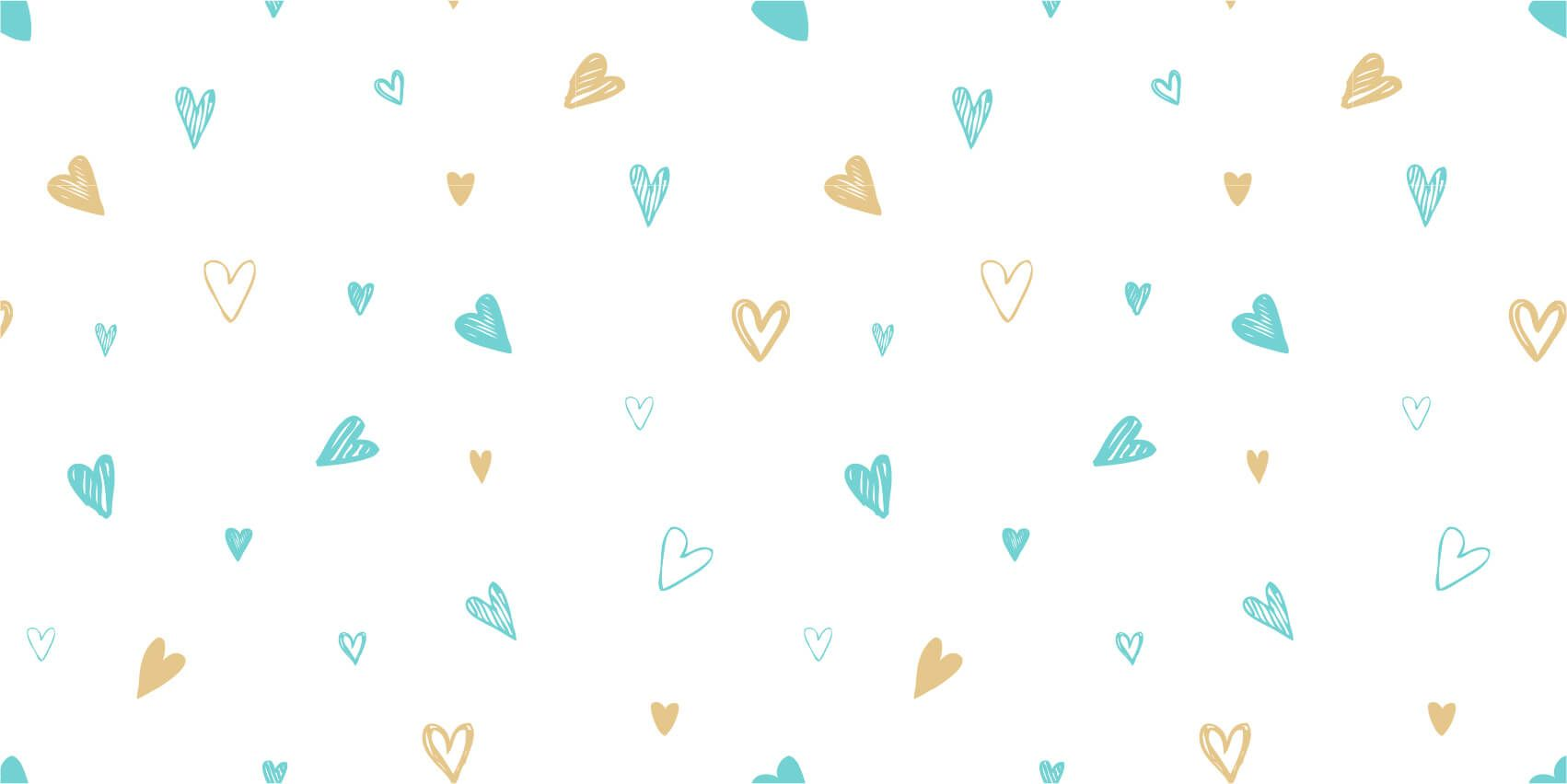 Other - Mint and golden hearts - Children's room