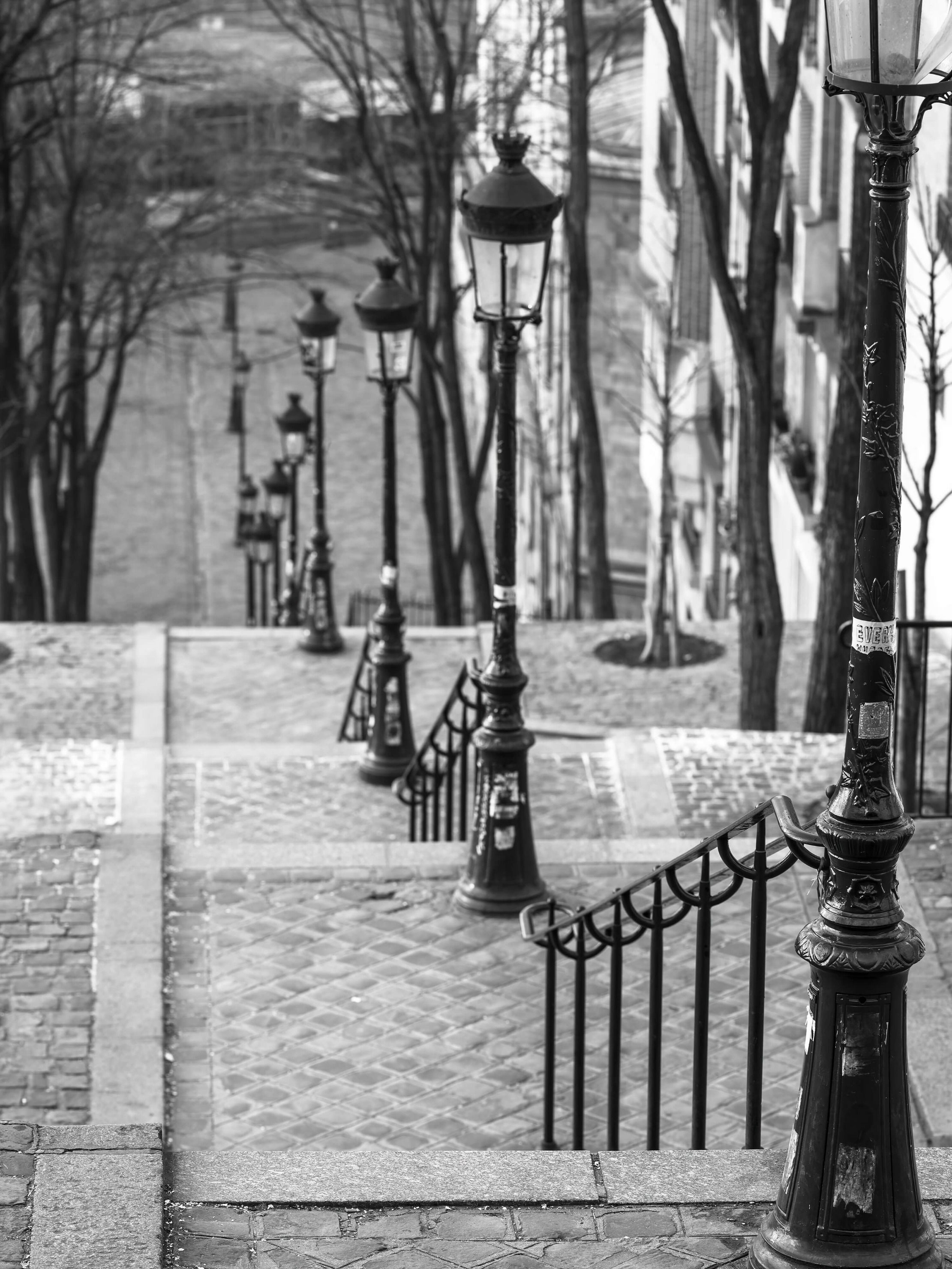 The famous stairs in Montmartre