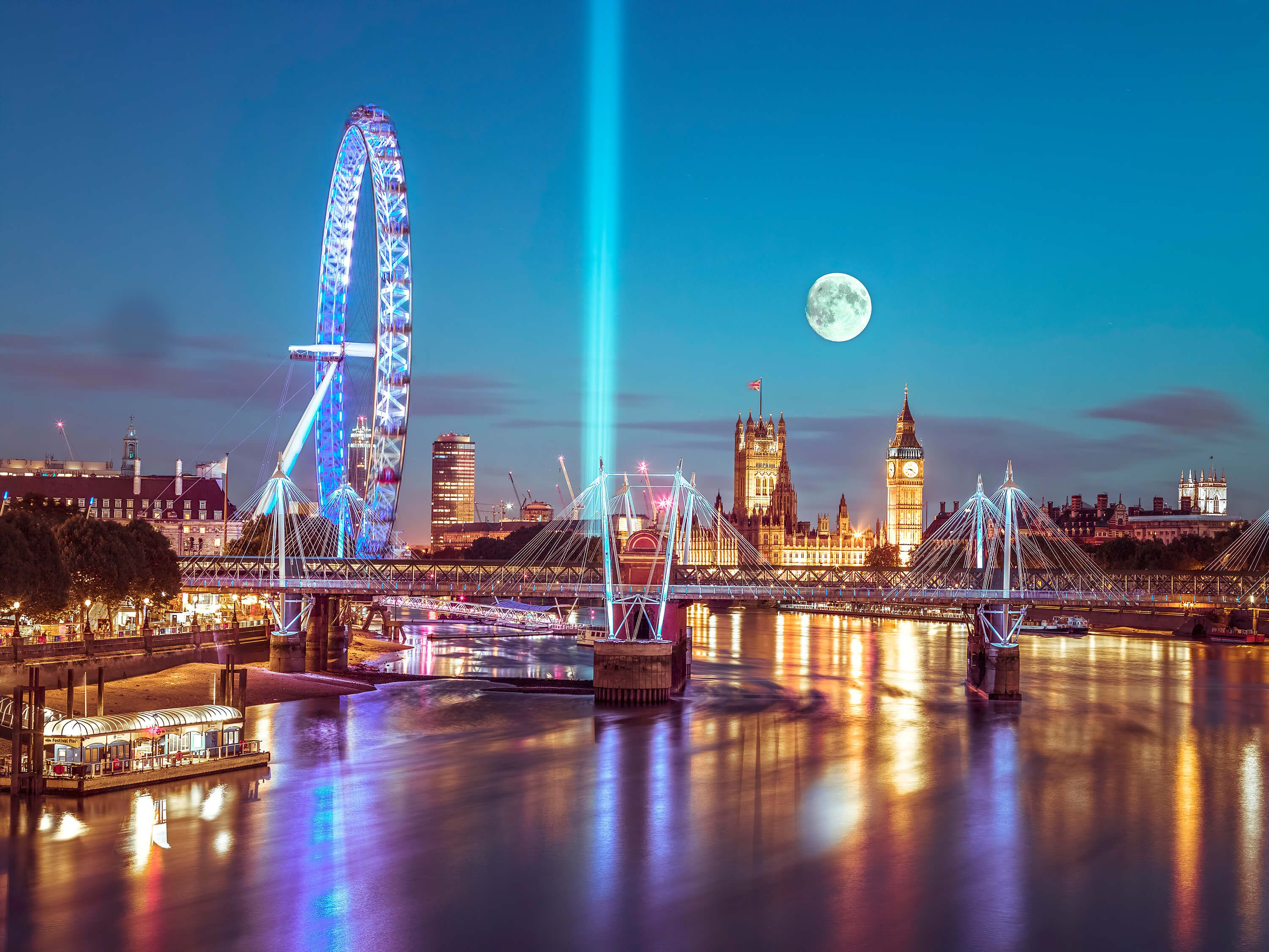 Westminster at Full Moon