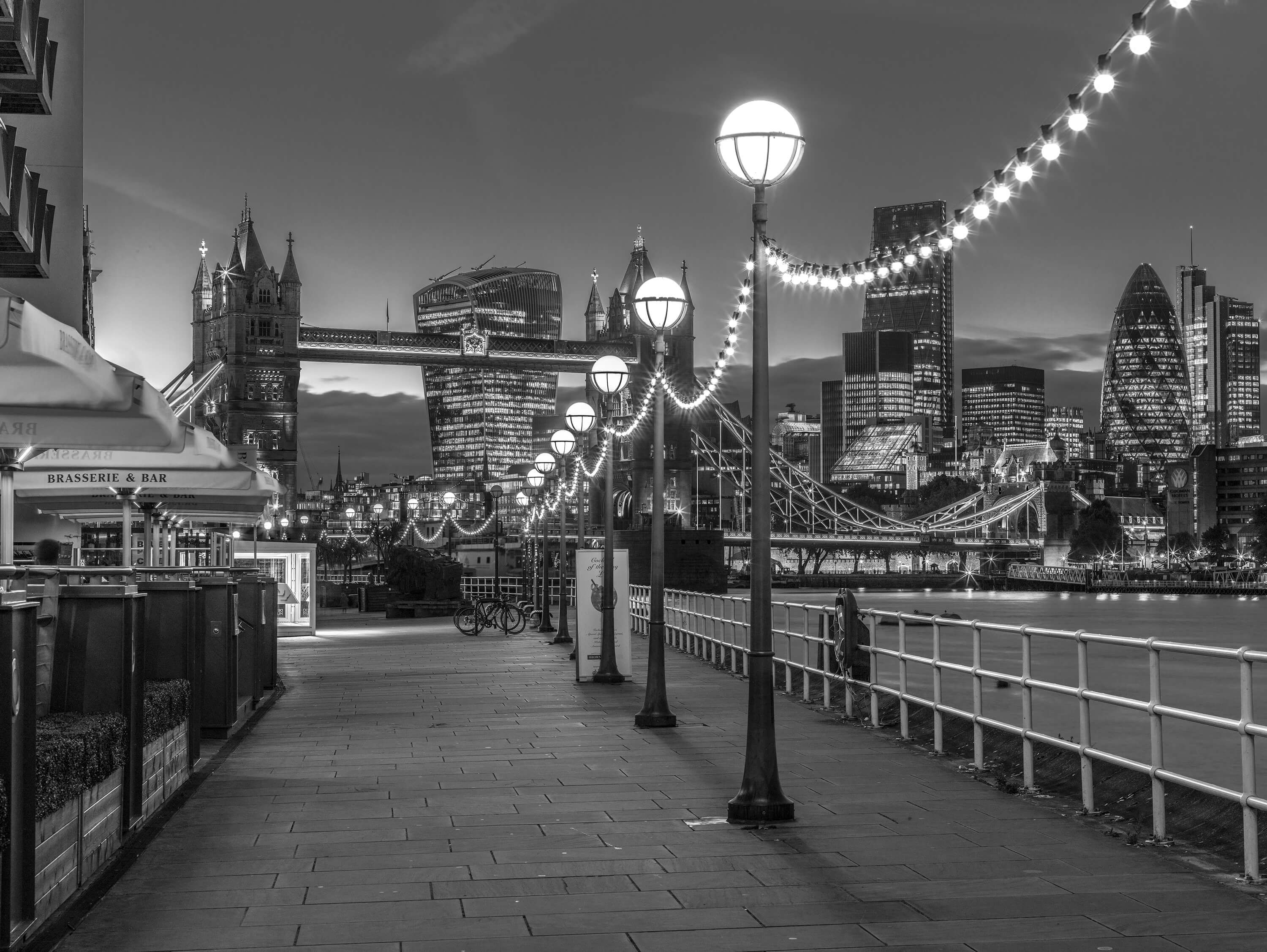 The road to Tower Bridge