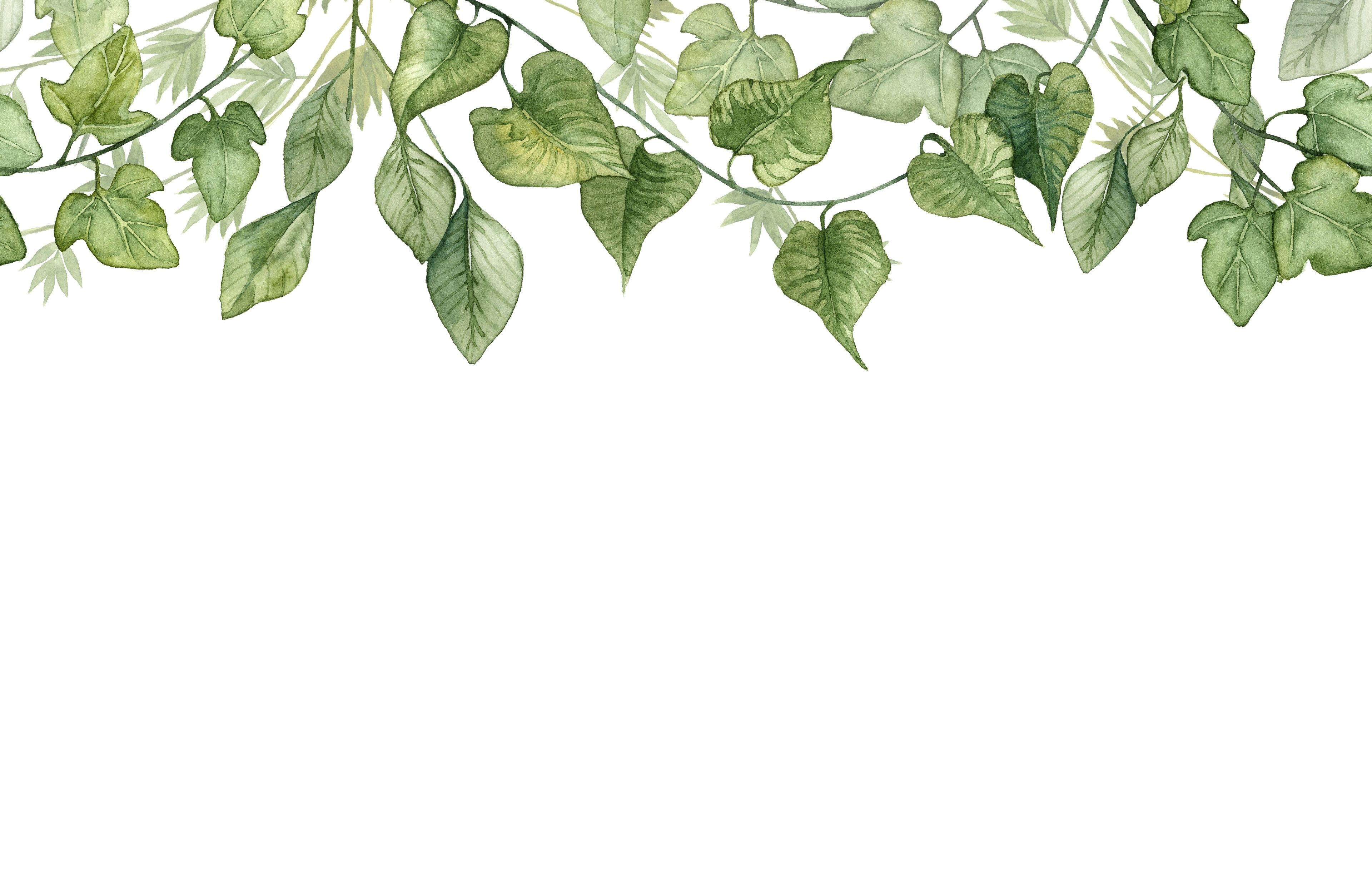 Hanging watercolour leaves