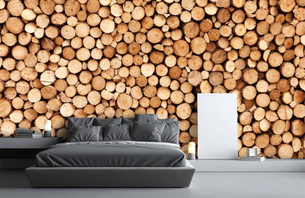 Wooden wallpaper - Fire wood - Living room 4