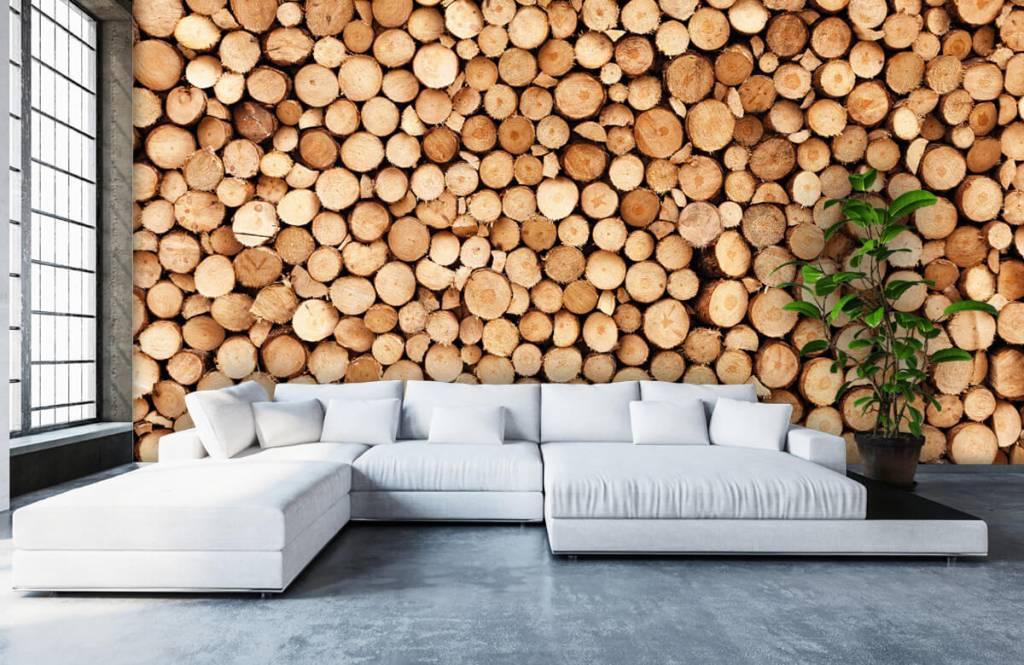 Wooden wallpaper - Fire wood - Living room 6