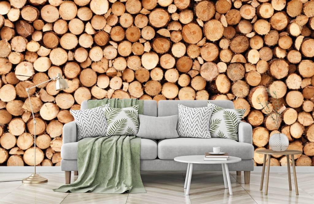 Wooden wallpaper - Fire wood - Living room 7