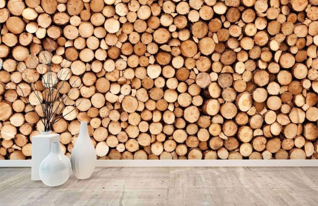 Wooden wallpaper - Fire wood - Living room 8