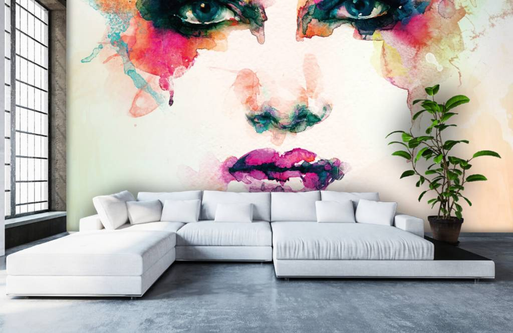 Portets and faces - Abstract head - Living room 3