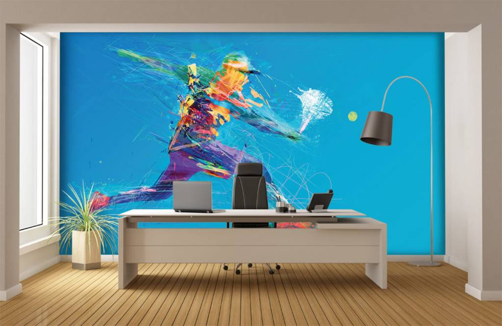Other - Illustrated tennis player - Hobby room 4