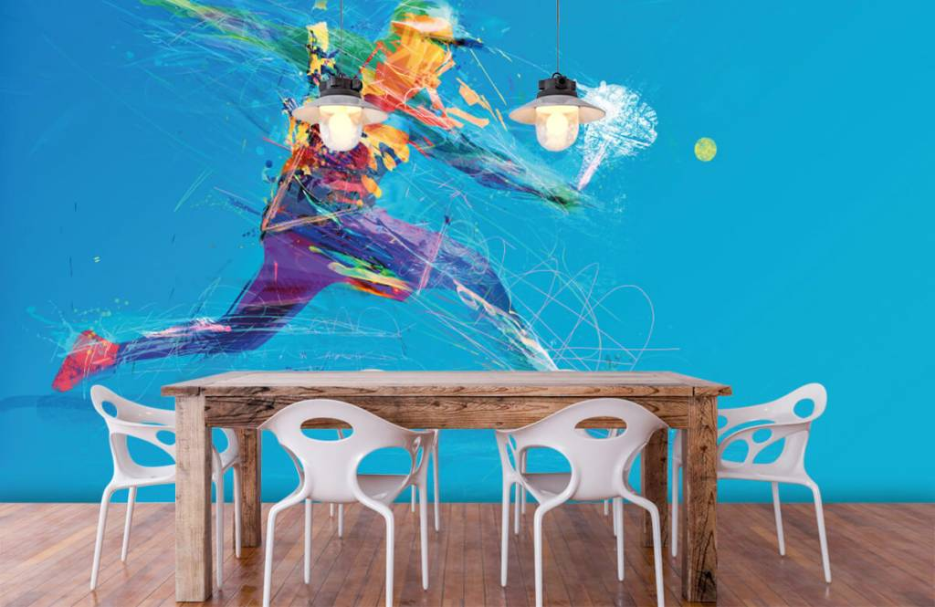 Other - Illustrated tennis player - Hobby room 7