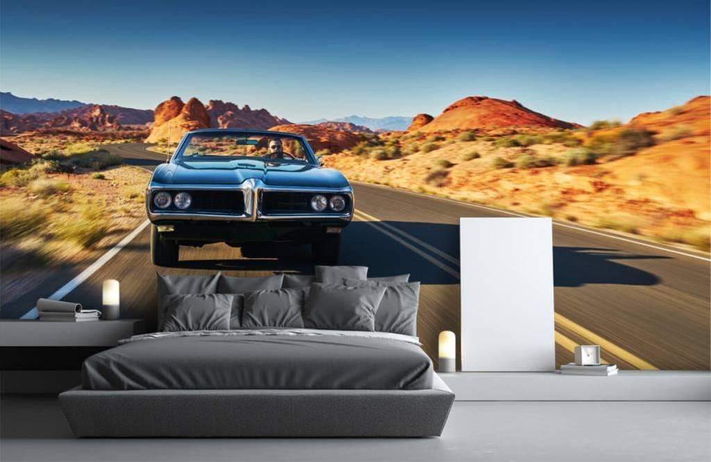 Transportation - Muscle car in an American landscape - Teenage room 1