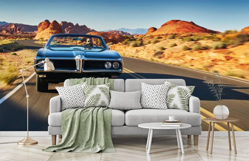 Transportation - Muscle car in an American landscape - Teenage room 2