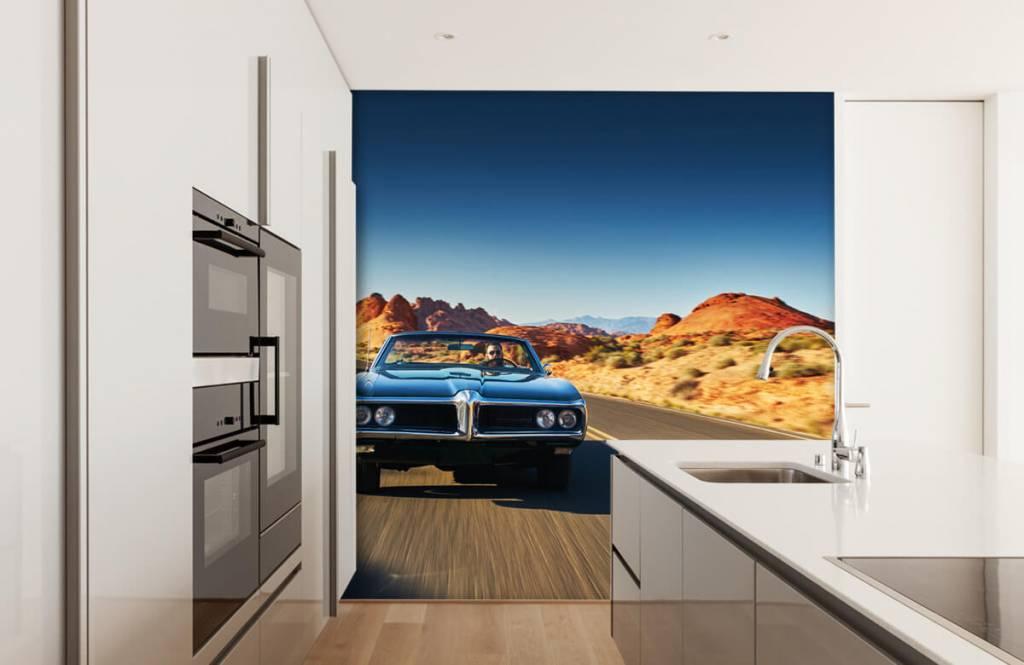 Transportation - Muscle car in an American landscape - Teenage room 3