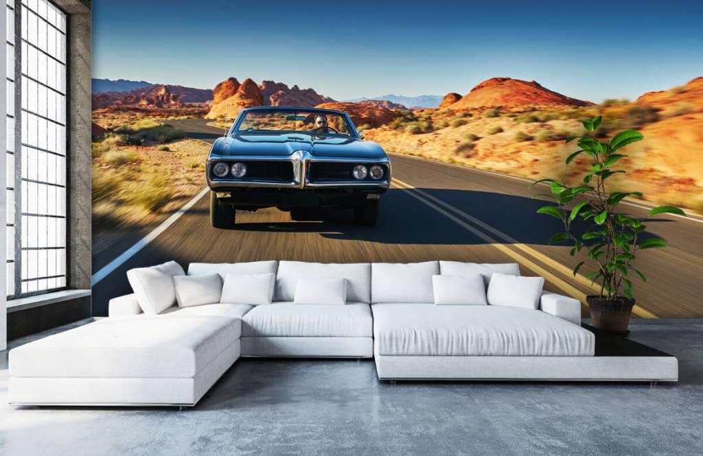 Transportation - Muscle car in an American landscape - Teenage room 4
