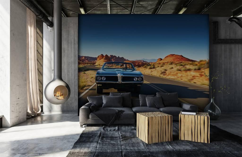 Transportation - Muscle car in an American landscape - Teenage room 5