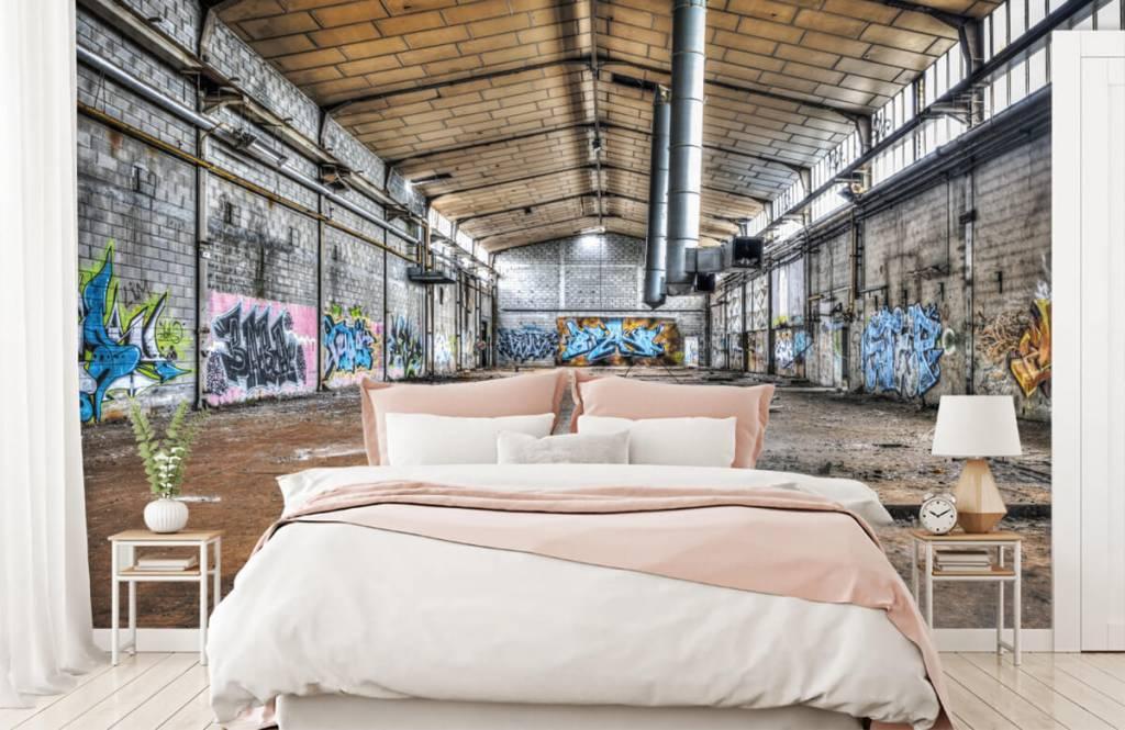 Buildings - Old abandoned factory hall - Teenage room 2