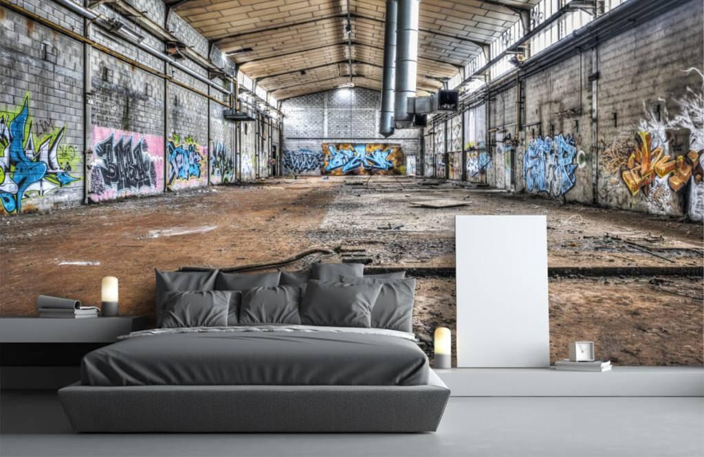 Buildings - Old abandoned factory hall - Teenage room 3