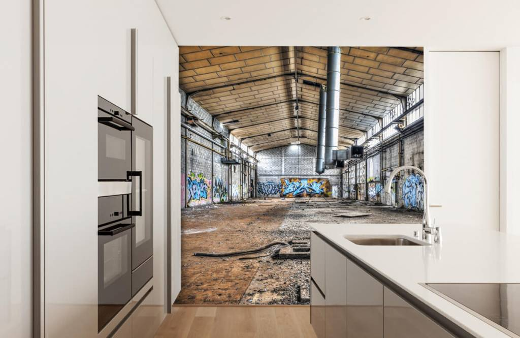 Buildings - Old abandoned factory hall - Teenage room 4